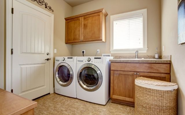 when a unit is unfurnished it tends to include a washer and dryer combo